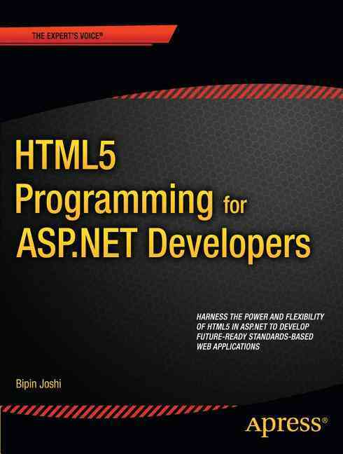 Html5 Programming for Asp.net Developers By Joshi, Bipin